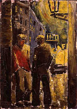 Deutsch: Arbeitslose (Gemälde, Öl auf Leinwand...