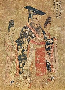 Particolare da I tre imperatori di Yan Liben (VII secolo)