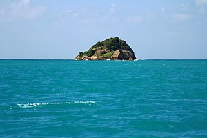 Small island off the coast of Antigua