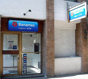 English: A Banamex automatic teller machine in...