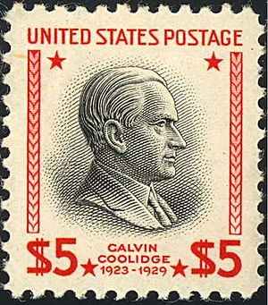 English: US Postage stamp: Calvin Coolidge, Is...