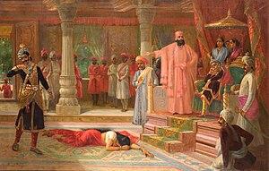 Draupadi as humiliated in Virata's durbar by K...