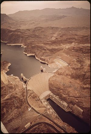 HOOVER DAM ON THE COLORADO RIVER - NARA - 549024