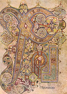Chi Rho page, Book of Kells
