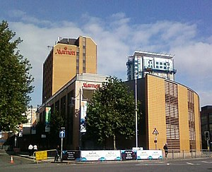 English: Marriot Hotel in central Cardiff The ...