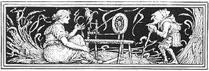 Illustration of Rumpelstiltskin from Household...