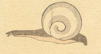 English: Snail by Hokusai