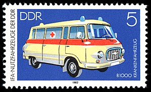 Stamp description Motif: Commercial Vehicles -...