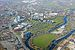 Aerial photograph of the University of Salford...