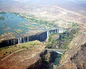 Victoria Falls from the sky, September 2003 Ph...
