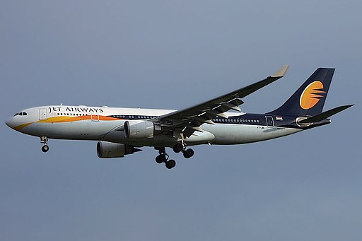 Airbus A330-202, Jet Airways JP6582983