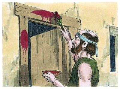 Book of Exodus Passover illustration