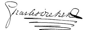 Signature of Charles Dickens