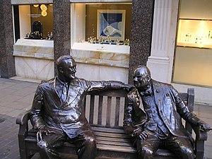Franklin D. Roosevelt and Winston Churchill, N...