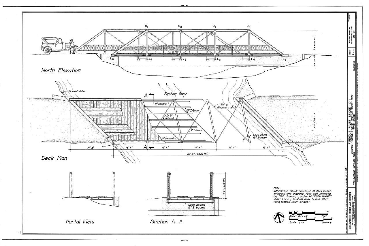 File Firehole River Bridge Spanning Firehole River At