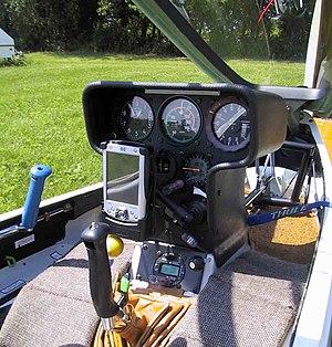 Cockpit of a typical modern glider (Glaser-Dir...