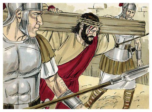 Jesus Carrying Cross graphic
