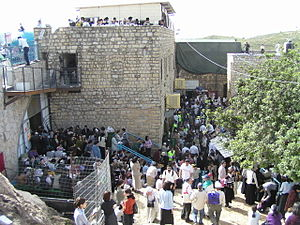 The grave of Rabbi Simeon Bar Yochai in Meron ...