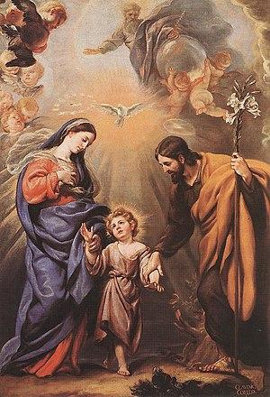 Holy Family: Mary, Joseph and child Jesus