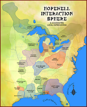 English: A map showing the Hopewell Interactio...
