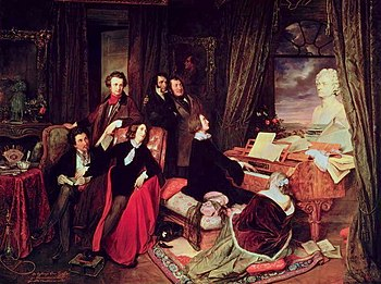 "Danhauser's ""Liszt at the Piano"""