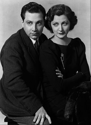 Publicity photo of Luther and Stella Adler for...