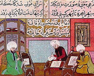 Painting atelier of the Sultan. The miniature ...