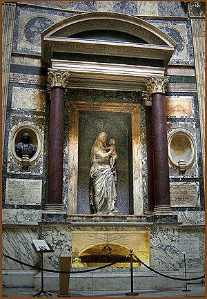 English: Pantheon, Rome, Raphael's tomb.