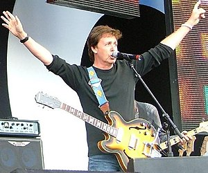 Paul McCartney with an Epiphone Casino at Live...