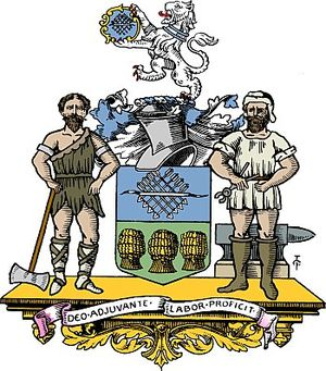 The Coat of Arms of the City of Sheffield.