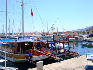 Harbour in Kalkan Turkey