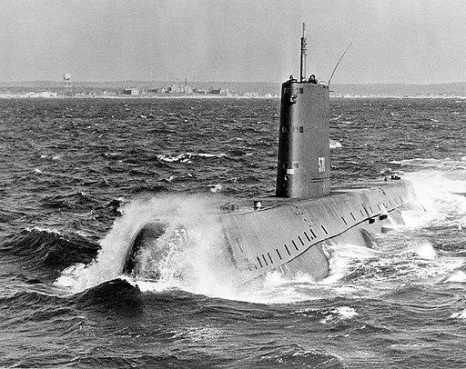 USS Nautilus SSN-571 -underway