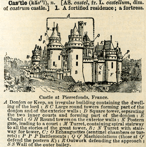 This is an illustration of a castle from Webst...