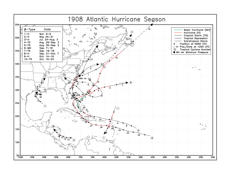 File:1908 Atlantic hurricane season map.png