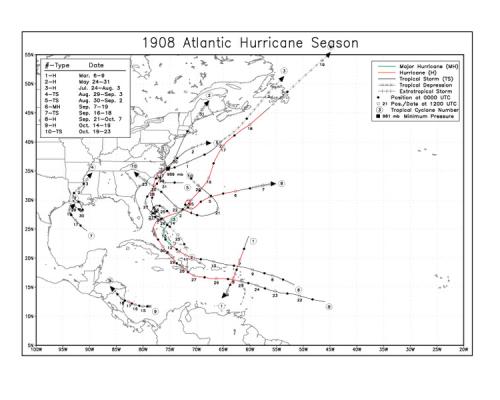 File:1908 Atlantic hurricane season map.png
