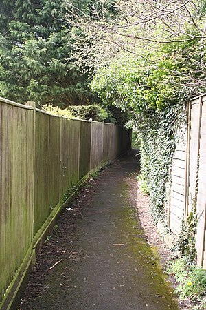 English: Alleyway to the school Only found thi...