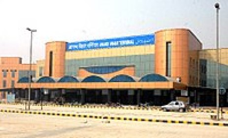 The entrance of the Anand Vihar station