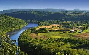 Susquehanna River, Asylum Township, Bradford C...