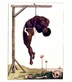 """A Negro Hung Alive by the Ribs to a Gall..."