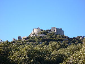 English: Castle of Montferrand - Pic Saint Lou...