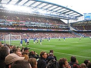 Chelsea fans at a match against Tottenham Hots...
