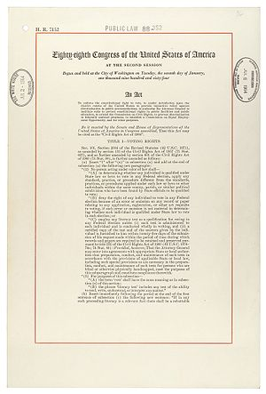 Civil Rights Act of 1964 as it pertains to human resources departments.
