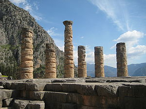 The remaining columns of the Temple of Apollo ...