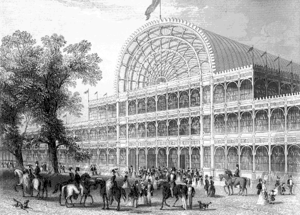 The front entrance of the Crystal Palace, Hyde...