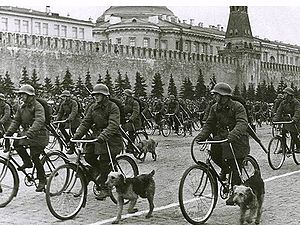 Parade on Red square, Moscow, May 1, 1938
