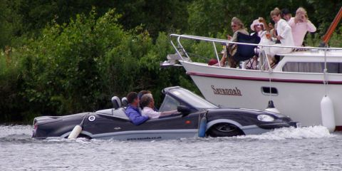 The Gibbs Aquada: Proving that no matter how much money you have, inexperienced boaters still drive around with the fenders out
