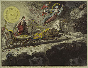Light Expelling Darkness, by James Gillray. Pu...
