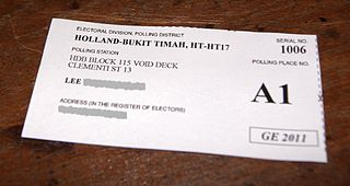 A poll card issued for the 2011 general election