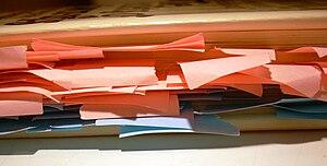 pressure sensitive adhesive note paper