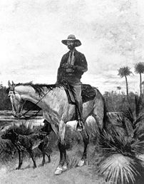 A cracker cowboy  artist: Frederick Remington.